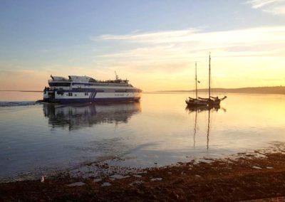 Boot-zonsondergang