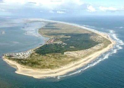 Luchtfoto-eiland